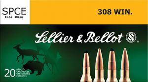 Sellier & Bellot SB308F Rifle Hunting 7.62 NATO/.308 WIN 180 GR SPCE (Soft Point - SB308F