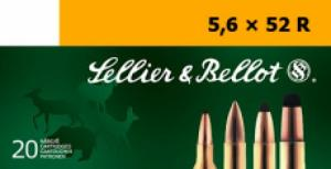 Sellier & Bellot SB5652RB Full Metal Jacket 5.6mmX52R 70 GR  - SB5652RB