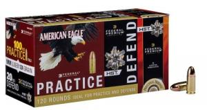 Federal PAE9124HST Personal Defense 9mm Luger 124 GR Full Metal Jacket (100)/HS - 10