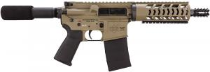 "Diamondback Firearms DB15PFlat Dark Earth7 Pistol 223 Rem/5.56 NATO 7.5"" Flat Dark Earth Cera - DB15PFDE7"