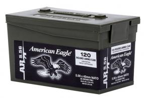 FED American Eagle Lake City 5.56 NATO 55 Grain FMJ 120rd Mini Ammo Can Case