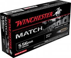 Winchester Ammo S556M Match Boat Tail Hollow Point 5.56 NATO