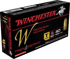 Winchester Ammo W40SWT Train 40 S&W Full Metal Jacket 180 GR 50 Box/10 Case