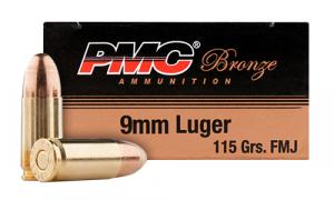 PMC 9ABP Battle Packs 9mm Full Metal Jacket 115 GR 300Box/3C - 9ABP
