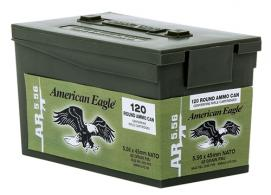 Federal XM855LPC120 M855 5.56 NATO 62GR FMJ 120 Mini Ammo Can 5 pack