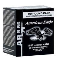 Federal XM855AF90 American Eagle 5.56 Nato Clipped FMJ 62 GR