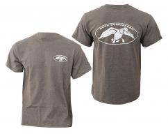 Duck Commander Apparel White Logo Charcoal T-Shirt Short Sle - DCSHIRTCWL