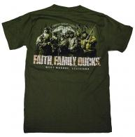 Duck Commander Faith.Family.Ducks. T-Shirt Short Sleeve Moss - DCSHIRTMFFD