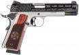 "Sig Sauer 191145TXS 1911 Texas Engraved Two Tone SAO .45 ACP 5"" 8+1 Redwood Grip SS/Blk - 191145TXS"