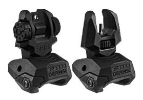 MAKO FRBS FRONT/REAR FLIP SIGHT BLK