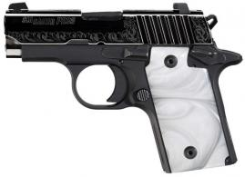 "Sig Sauer 238380ESW P238 Single 380 Automatic Colt Pistol (ACP) 2.7"" 6+1 NS Whi"