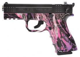 "ISSC 111032 M22 SAO .22 LR  4.0"" 10+1 Muddy Girl Poly Grip/Frame Chrome Slide - 111032"