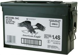 Federal AE223BL5AC American Eagle .223 Remington 55 GR Full Metal Jacket 500 Bx