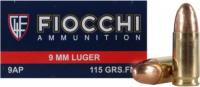 Fiocchi 9APCMJ Shooting Dynamics 9mm Luger 115 GR Copper Metal Jacket 50 Bx/ 20