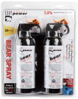 UDAP BS2 Bear Spray 7.9oz/225g Up to 35 Feet 2-Pack Black - BS2