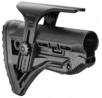 Mako GL-SHOCKCP AR-15/M16/M4 Recoil Reducing Stock w/Adj Cheekpiece Poly Blk - GLSHOCKCP