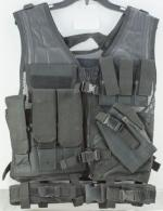 NCStar CTV2916B Tactical Vest Black M-XL Tough PVC/Mesh Webbing - CTV2916B