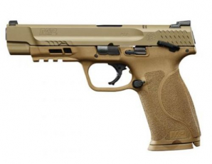 Smith & Wesson M&P M2.0 DOUBLE 9MM 5 17+1 Thumb Safety 3DOT Thumb Safety LCI FLAT DARK EARTH