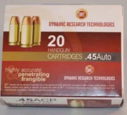 Dynamic Research Tech 92011 Terminal Shock .45 ACP JHP 150 GR
