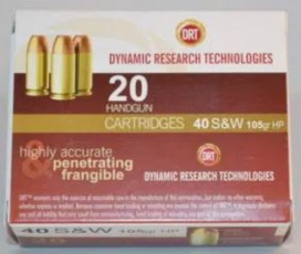 Dynamic Research 52109 Terminal Shock .40 S&W JHP 105GR 20Box/