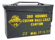Malaysian Surplus 308/7.62 Ammo 300 Rds/ Can