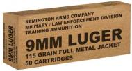 Remington Ammunition B9MM3 Overrun 9mm Luger 115 GR Full Metal Jacket 50 Bx/ 10