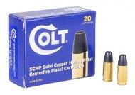 COLT AMMO 9MM 115GR. Solid Copper Hollow Point 20