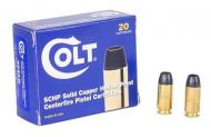 COLT AMMO .40SW 155GR. Solid Copper Hollow Point 20