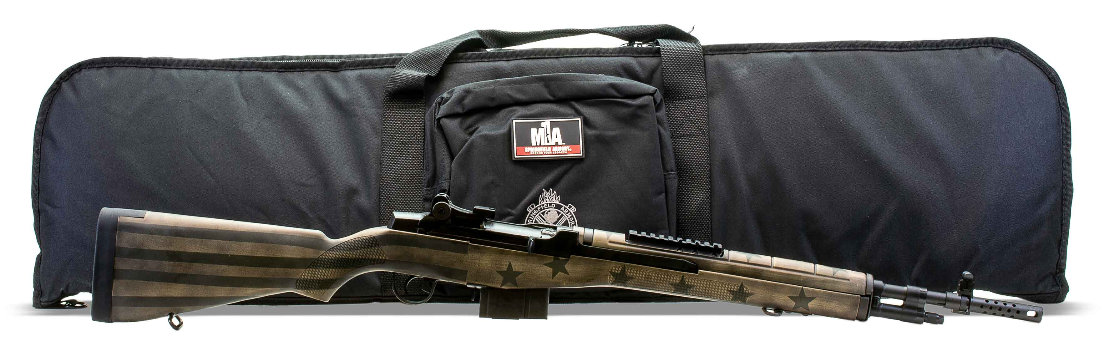 Springfield M1a Scout Squad 7 62 308 Sand Green Flag Stock