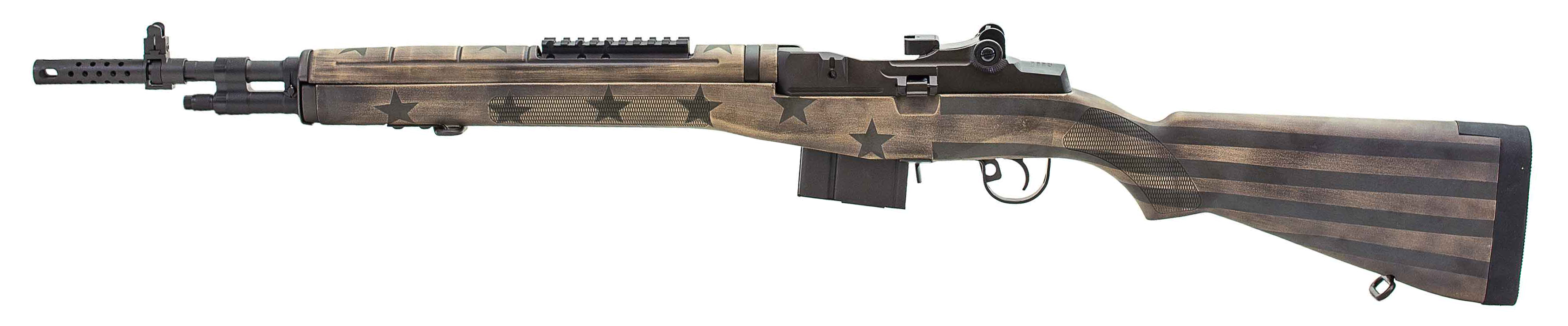 Springfield M1A Scout Squad 7 62/308 Sand/Green Flag Stock