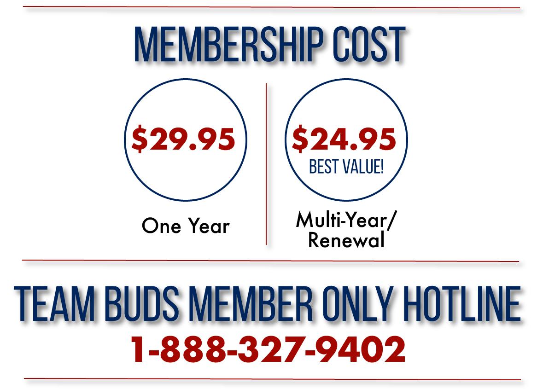 Team Buds Membership Cost