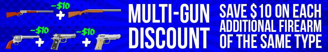 Multi-gun discount