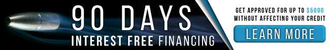 90 days interest free financing with credova