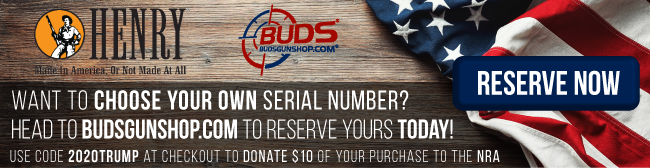 Want to choose your own serial number? Reserve yours at BudsGunShop.com today!