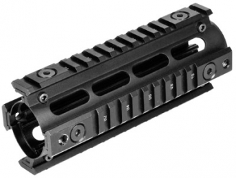 NCStar MAR4S Quad Rail For Carbine Weaver Style Matte Black