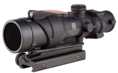 Trijicon ACOG 4x32 BAC Rifle Combat Optic (RCO) Scope with Red Chevron Reticle for the USMC's M4 and M4A1 with Thumbscrew Mount
