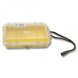 Pelican 1040 Micro Case - Clear with Yellow Liner