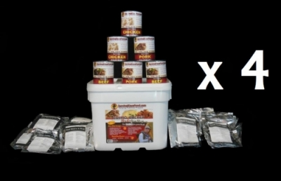 4x Buds Survival Food Combo  319 Servings 28 Days of food for 4 people