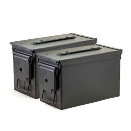 50 Cal Ammo Cans/Black 2 Pack