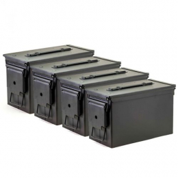 50 Cal Ammo Cans/Black 4 Pack