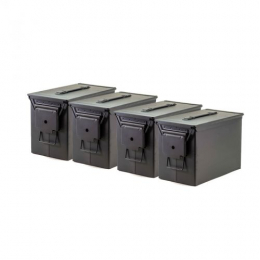 Fat 50 Ammo Cans/Black 4 Pack
