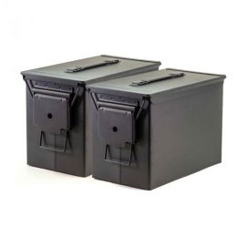 Fat 50 Ammo Cans/Black 2 Pack