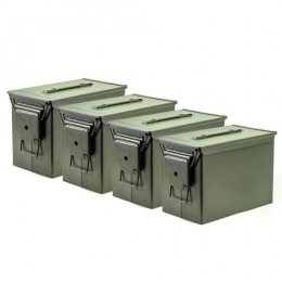 Fat 50 Ammo Cans/Green 4 Pack