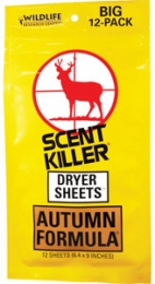 Wildlife Research Scent Killer Dryer Sheets
