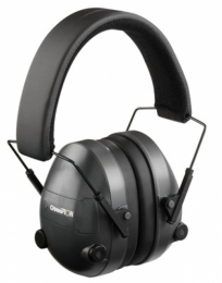 Champion Black Adjustable Electronic Earmuffs