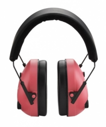 Champion Pink Adjustable Electronic Earmuffs