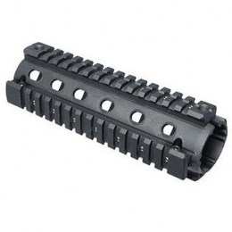Fab Defense Black Aluminum AR15/M4 Quad Rail