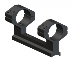 Muzzleloader 1 Piece Ring and Base Set High Matte Black Traditio