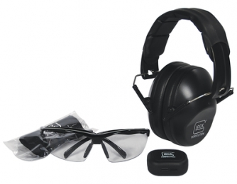 Range Kit With Shooting Glasses Earplugs and Earmuffs