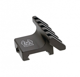 45 Degree Offset Accessory Rail Black